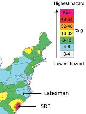 USGS Seismic Zone Map - 2016 -SC