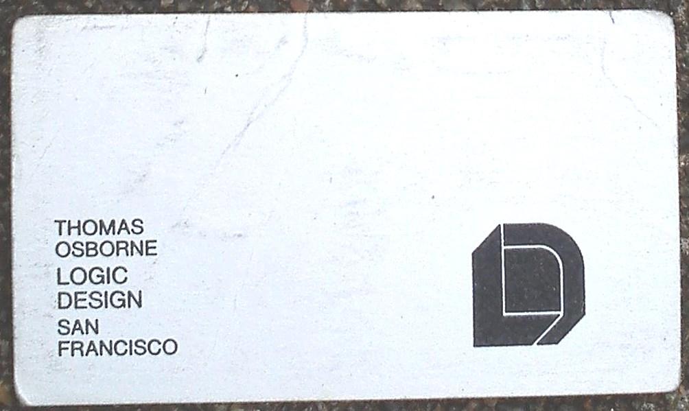 Thomas Osborne business card